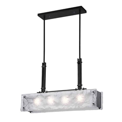 """28"""" 4 Light Chandelier with Black Finish"""