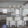 """Picture of 28"""" 4 Light Multi Light Pendant with Chrome finish"""