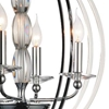 "Picture of 28"" 4 Light Up Chandelier with Chrome finish"