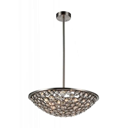 "28"" 5 Light  Chandelier with Satin Nickel finish"