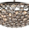 "Picture of 28"" 5 Light  Chandelier with Satin Nickel finish"