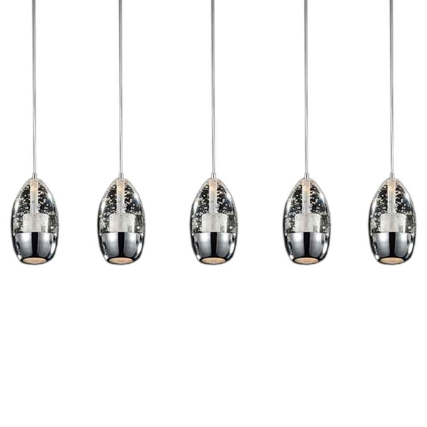 """Picture of 28"""" 5 Light Multi Light Pendant with Chrome finish"""