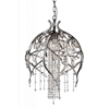 "Picture of 28"" 6 Light Down Chandelier with Speckled Nickel finish"