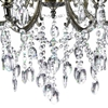 "Picture of 28"" 6 Light Up Chandelier with Antique Brass finish"