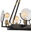 """Picture of 28"""" 6 Light Up Chandelier with Brown finish"""