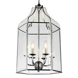 """28"""" 6 Light Up Chandelier with Chrome finish"""
