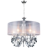 "Picture of 28"" 8 Light Drum Shade Chandelier with Chrome finish"