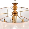 "Picture of 28"" 8 Light Drum Shade Chandelier with French Gold finish"
