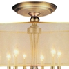"Picture of 28"" 8 Light Drum Shade Flush Mount with French Gold finish"