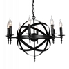 "Picture of 28"" 8 Light Up Chandelier with Black finish"