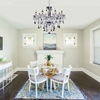 """Picture of 28"""" 8 Light Up Chandelier with Chrome finish"""
