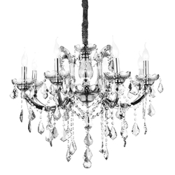 """28"""" 8 Light Up Chandelier with Chrome finish"""