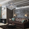 """Picture of 28"""" 9 Light Down Chandelier with Chrome finish"""