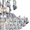 "Picture of 28"" 9 Light Down Chandelier with Chrome finish"