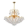 "Picture of 28"" 9 Light Down Chandelier with Gold finish"