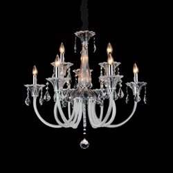 """28"""" 9 Light Up Chandelier with Chrome finish"""