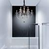 """Picture of 28"""" 9 Light Up Chandelier with Chrome finish"""