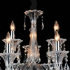 "Picture of 28"" 9 Light Up Chandelier with Chrome finish"