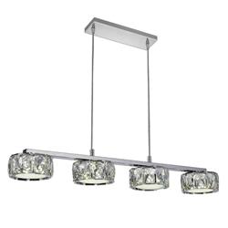 """28"""" LED Multi Light Pendant with Chrome finish"""