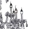 """Picture of 28"""" Vittoria Traditional Crystal Candle Round Chandelier Polished Chrome 8 + 4 Lights"""