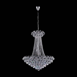 """29"""" 11 Light Down Chandelier with Chrome finish"""