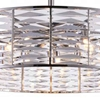 "Picture of 29"" 12 Light Down Chandelier with Bright Nickel finish"