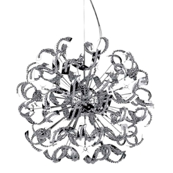 "29"" 18 Light  Chandelier with Chrome finish"