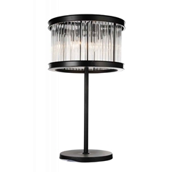 "29"" 4 Light Table Lamp with Black finish"