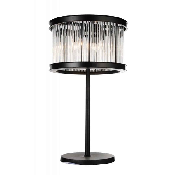 "Picture of 29"" 4 Light Table Lamp with Black finish"