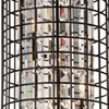 "Picture of 29"" 4 Light Up Chandelier with Brown finish"