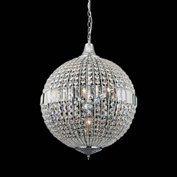 """29"""" 6 Light  Chandelier with Chrome finish"""