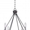 "Picture of 29"" 6 Light Candle Chandelier with Gun Metal finish"