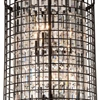 "Picture of 29"" 6 Light Up Chandelier with Brown finish"