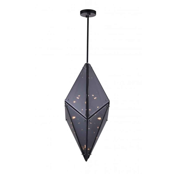 "Picture of 29"" 8 Light  Pendant with Black finish"