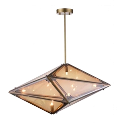 "29"" 8 Light  Pendant with Champagne finish"