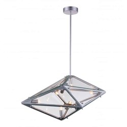 "29"" 8 Light  Pendant with Silver finish"