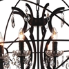 "Picture of 29"" 8 Light Up Chandelier with Brown finish"