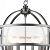 "Picture of 29"" 8 Light Up Chandelier with Gray finish"