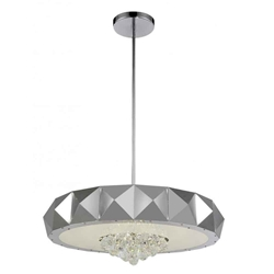 """30"""" 10 Light  Chandelier with Chrome finish"""