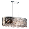 "Picture of 30"" 11 Light Drum Shade Chandelier with Chrome finish"