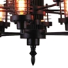 "Picture of 30"" 12 Light Up Chandelier with Rust finish"