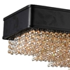 "Picture of 30"" 15 Light Drum Shade Chandelier with Black finish"