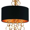 """Picture of 30"""" 3 Light Drum Shade Mini Pendant with Gold finish"""