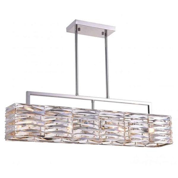 """Picture of 30"""" 4 Light Island Chandelier with Bright Nickel finish"""