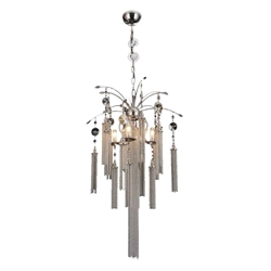 """30"""" 5 Light Down Chandelier with Chrome finish"""