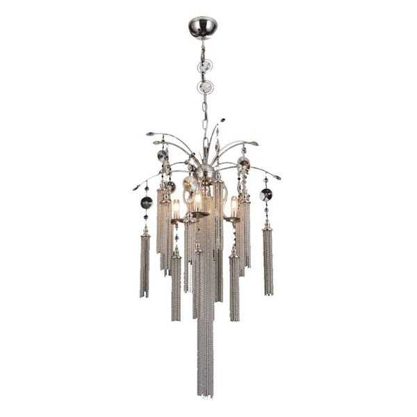 "Picture of 30"" 5 Light Down Chandelier with Chrome finish"
