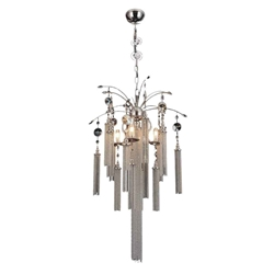 """30"""" 5 Light Down Chandelier with French Gold finish"""