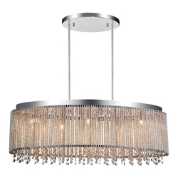"30"" 5 Light Drum Shade Chandelier with Chrome finish"