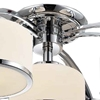 "Picture of 30"" 5 Light Drum Shade Flush Mount with Chrome finish"