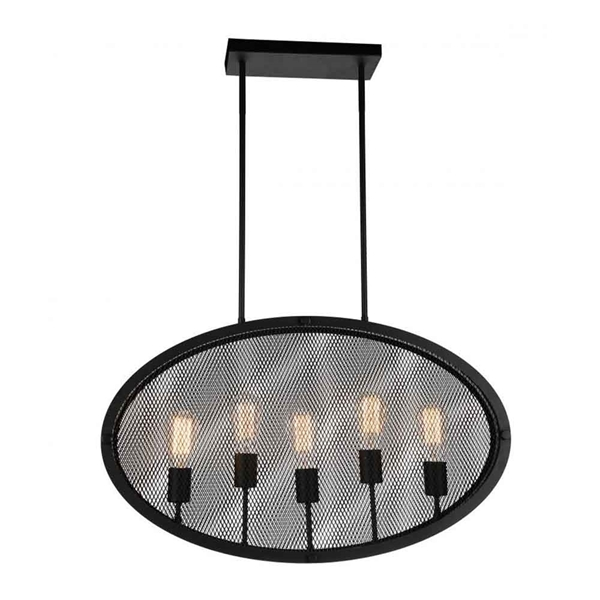 "Picture of 30"" 5 Light Up Pendant with Black finish"